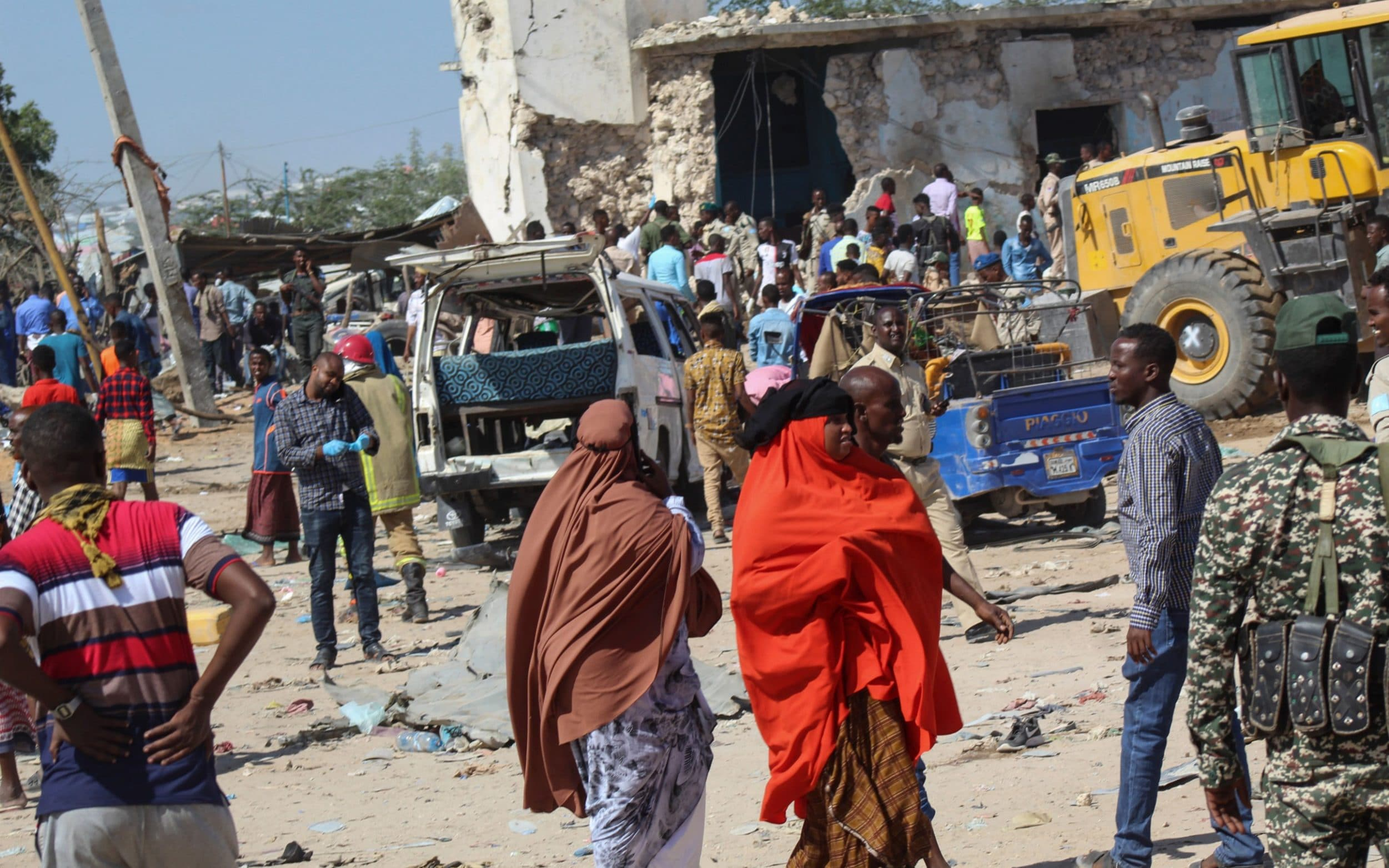 Somalis protest against al-Shabaab terror group as anger prompts rare apology for bombing that killed 90