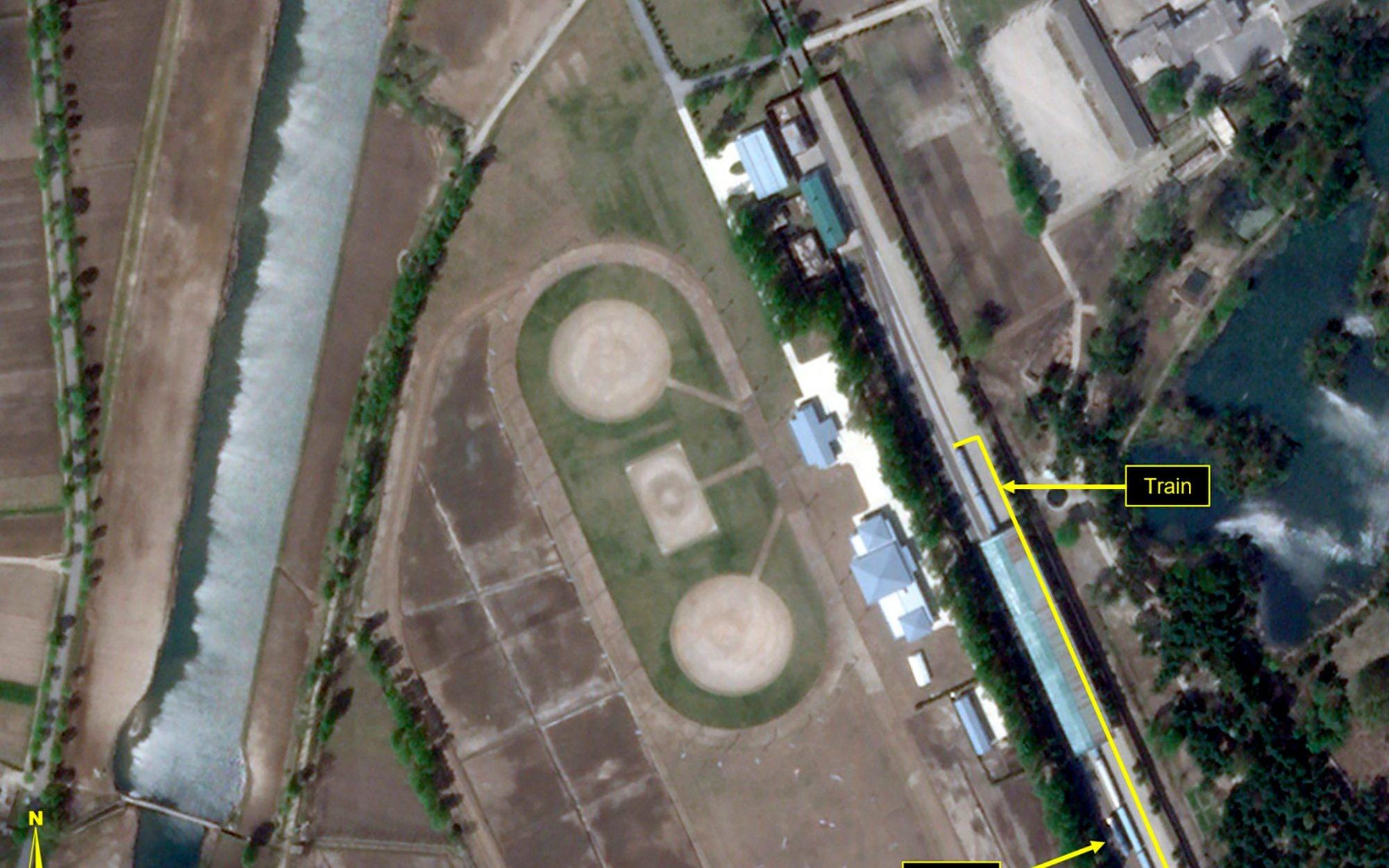 Kim Jong-uns train spotted at North Korea coastal resort amid conflicting rumours over health
