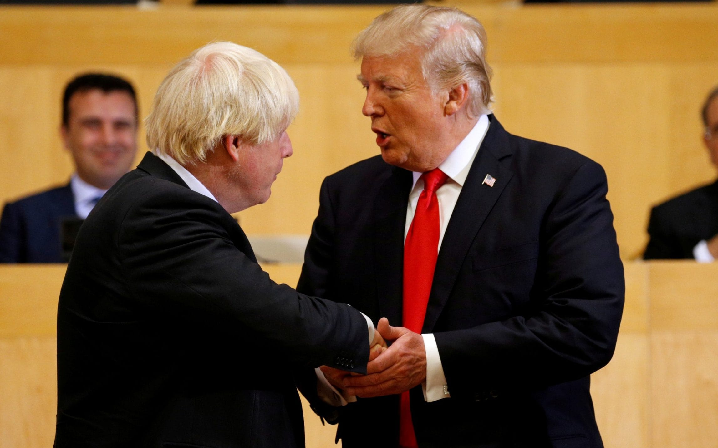 Donald Trump and Boris Johnson working on very substantial post-Brexit trade deal