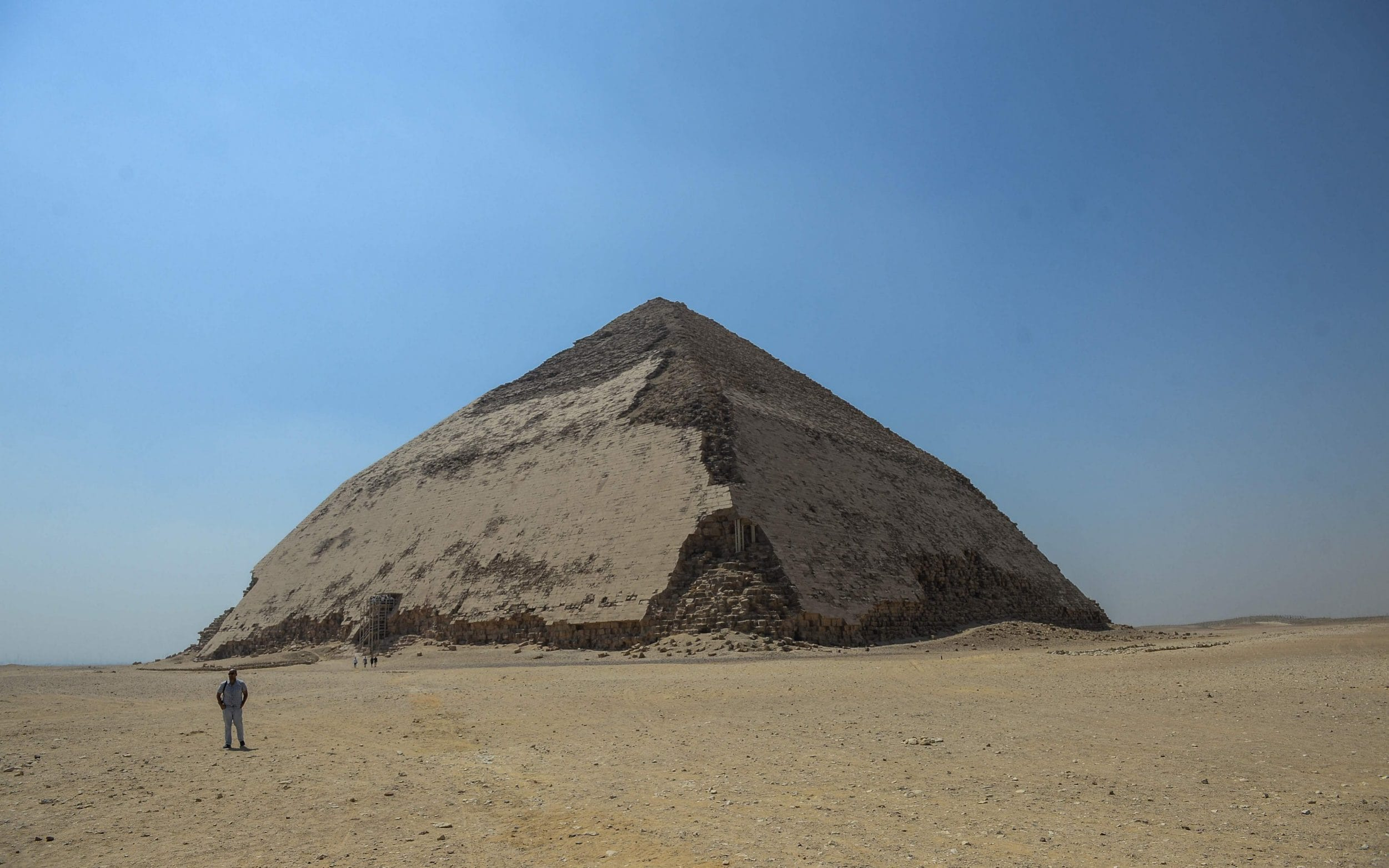 Egypts bent pyramid, a 4,600-year old landmark in ancient construction, opens to visitors