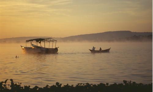Sunrise over Lake Victoria.
