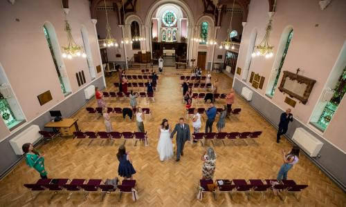 A socially-distanced wedding in Liverpool