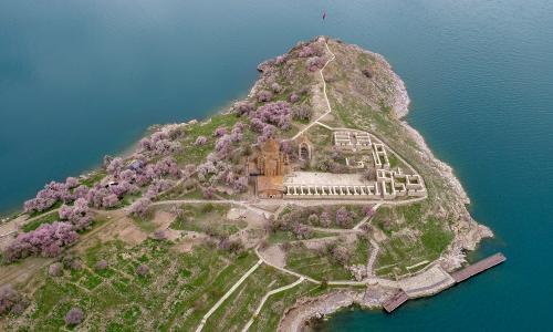 Akdamar Island, an island in Lake Van, Turkey