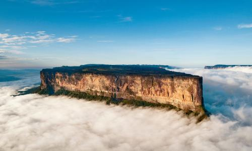 The magnificent Mount Roraima towers above the clouds