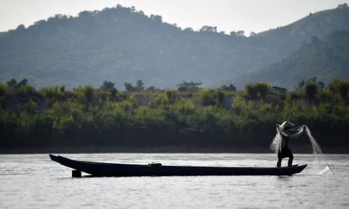 The Mekong River in Laos.