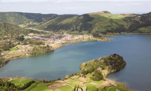 Lagoa das Sete Cidades in the Azores