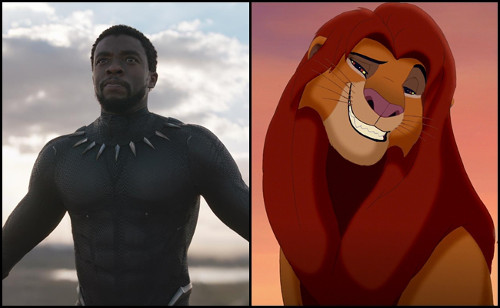b0505fcfd3c1 T'Challa and Simba are both heirs to the throne.