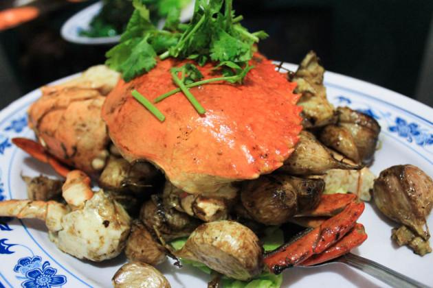 New Ubin seafood - garlic crab
