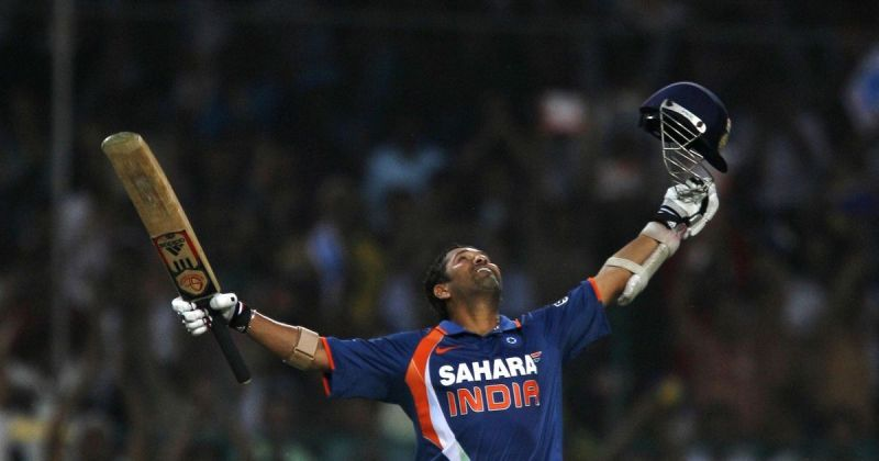 Sachin became the 1st batsman to score 200 in ODIs