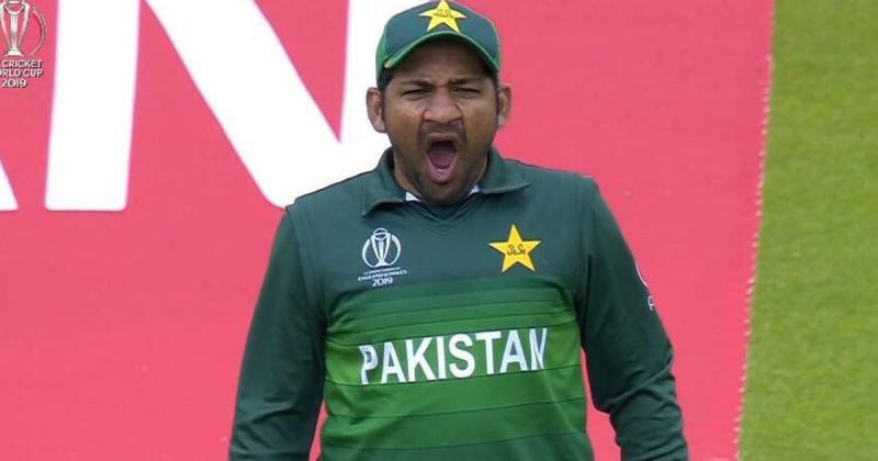 Sarfaraz was caught inexplicably yawning against India (Credits: Scroll)