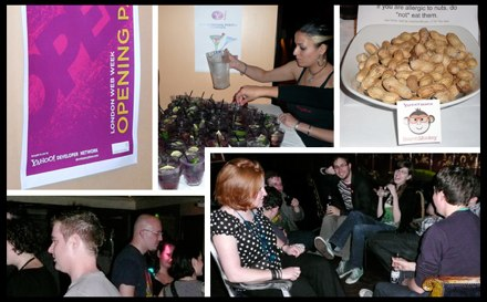 Collage of photos of the party