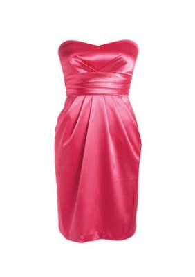 Delia's satin strapless dress, $44.50.