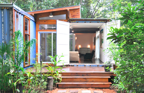 container home deck