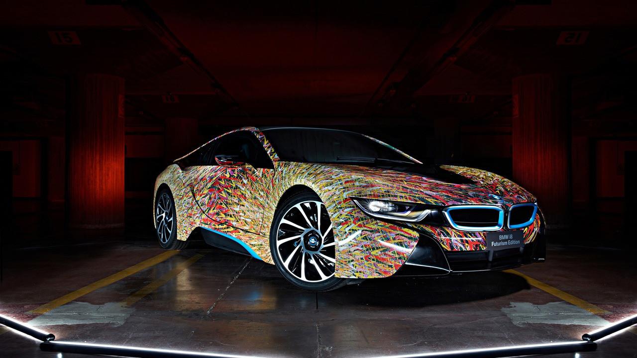 מגניב The BMW i8 Futurism Edition is an avant-garde sports car wrapped NA-35