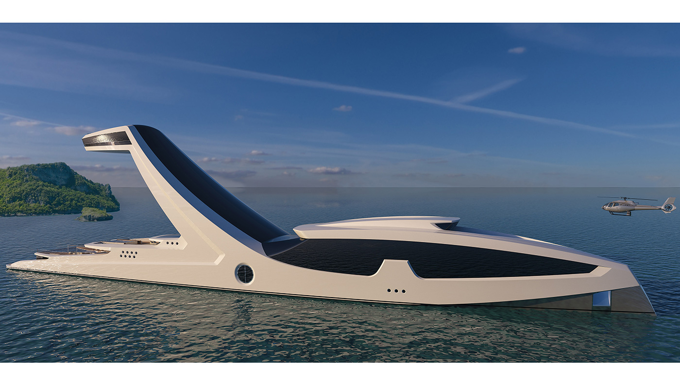 Over The Top Superyacht Concept Would Cost Half A Billion