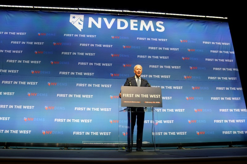 Democratic presidential hopeful Biden aims to keep Nevada on his side