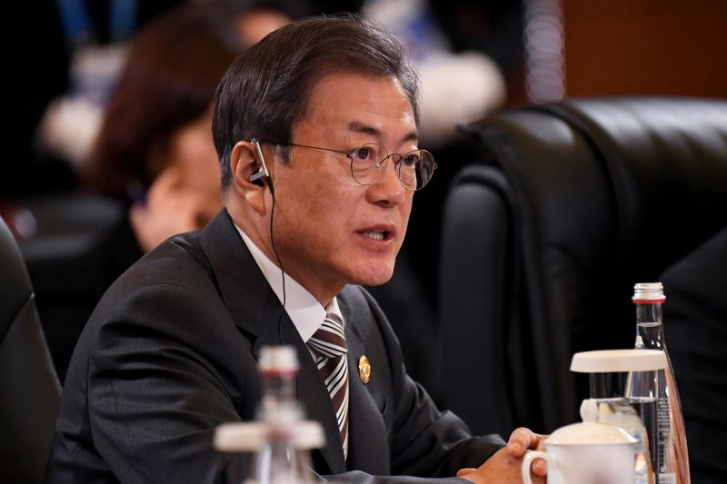 South Koreas Moon cites desperate need for ways to improve ties with North