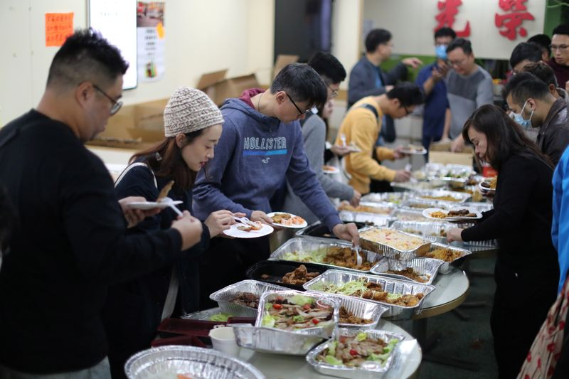 Were all family now: Protesters gather for free Christmas dinner in Hong Kong