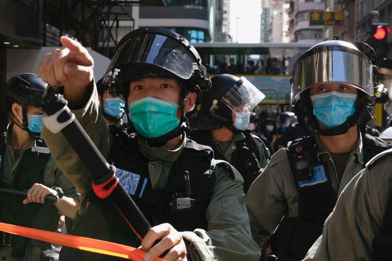 Dozens arrested as Hong Kongers protest planned national security laws