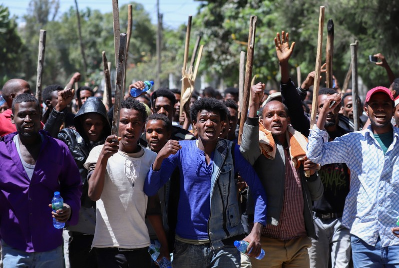 Violence during Ethiopian protests was ethnically tinged, say eyewitnesses