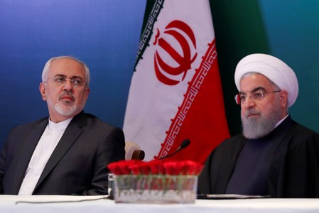Rouhani says childish of U.S. to sanction Iran foreign minister Zarif