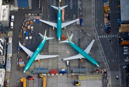 U.S. regulator cites new flaw on grounded Boeing 737 MAX
