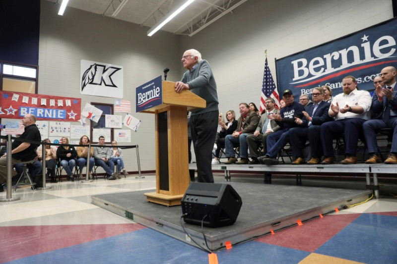 Sanders leads, with Warren, Buttigieg, Biden chasing in Iowa Democratic poll
