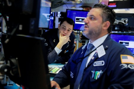 Weak factory data, trade frictions pull Wall Street lower