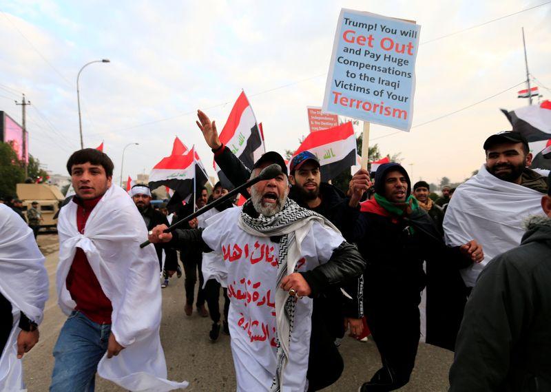 No, No America: Iraq protesters demand expulsion of U.S. troops