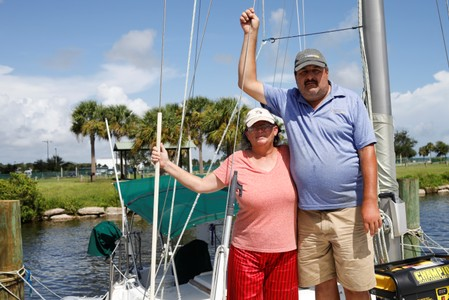 Some Florida boat residents to ride out Dorian, hoping for the best
