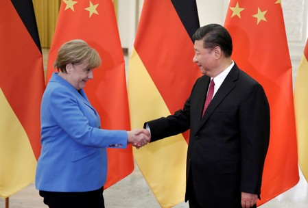 Hong Kong protests overshadow Merkel trip to China