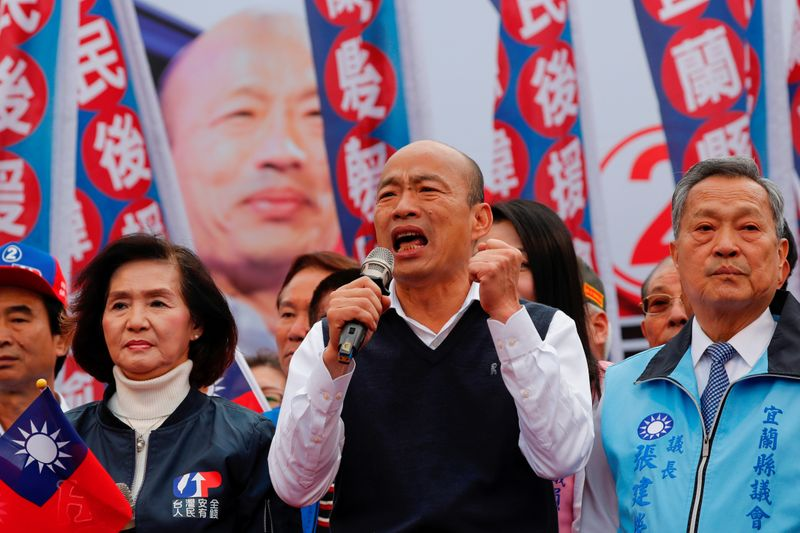 Taiwans China-friendly presidential hopeful faces backlash in divided south