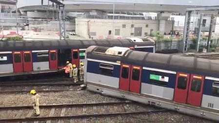 Hong Kong faces commuter chaos after rare train derailment