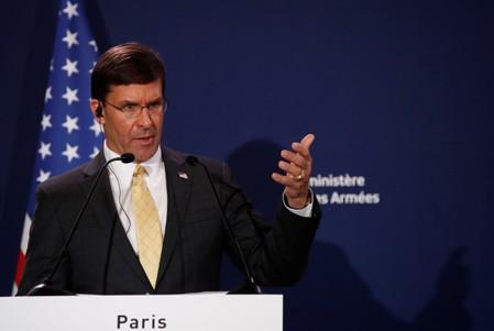 Pentagon chief says U.S. working toward good deal with Taliban