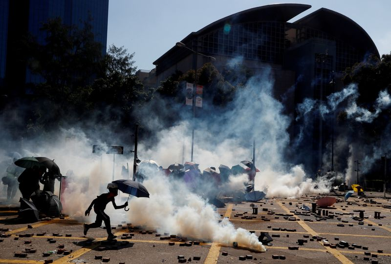 Hong Kong protest tide turns into sea of flames