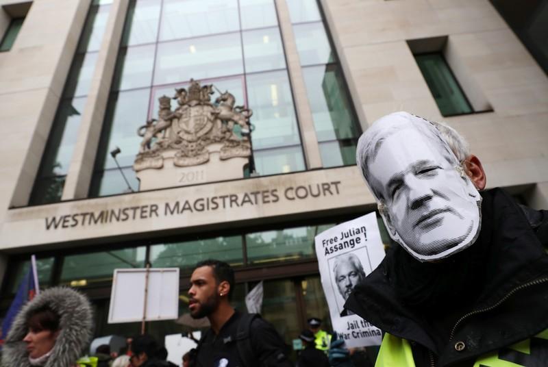 WikiLeaks founder Julian Assange, minus beard, appears in London court