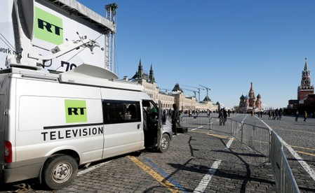 Russia warns British media after RT fined for coverage of poisoned spy