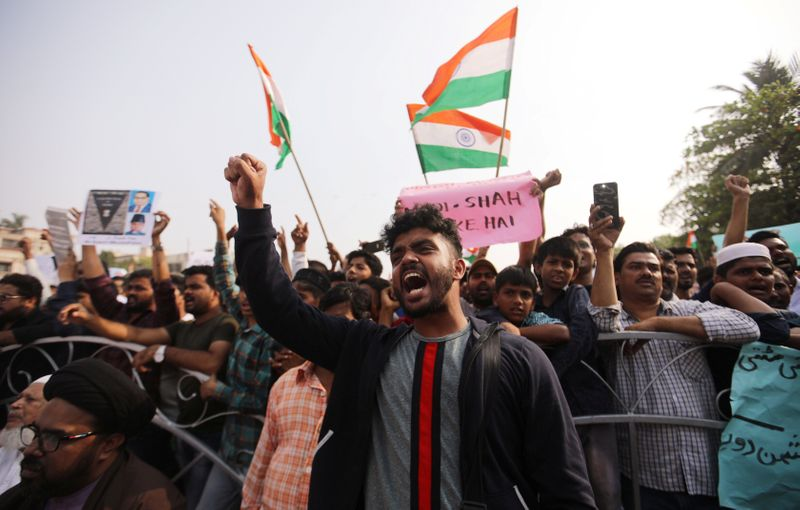 India celebrates New Years Eve with protests against citizenship law
