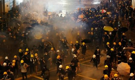 China tells U.S. to remove black hands from Hong Kong