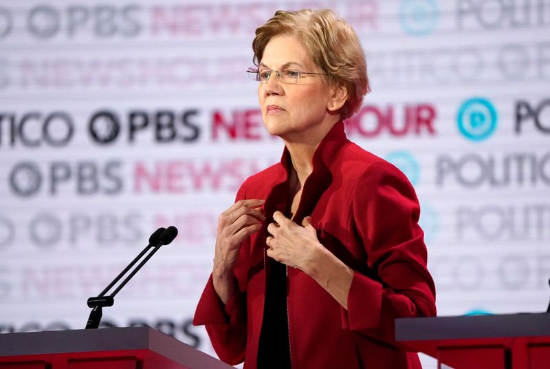 Democrat Warrens U.S. presidential campaign issues fundraising plea
