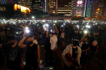 Hong Kong protesters target airport week after arrivals hall mayhem