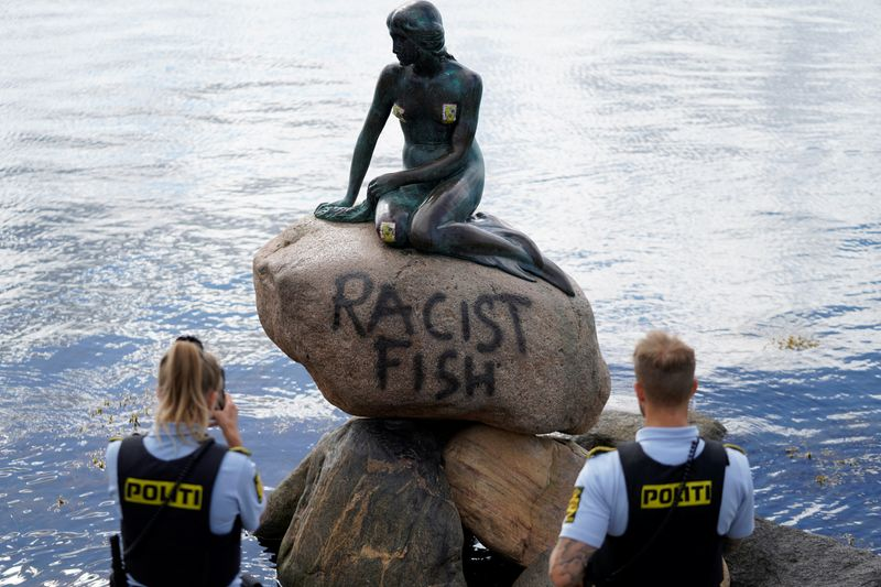 Copenhagens Little Mermaid labelled racist fish