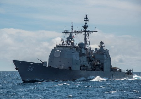 U.S. warship sails through strategic Taiwan Strait amid China tension