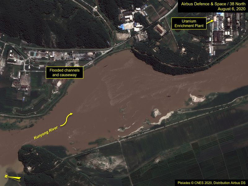 North Korea nuclear reactor site threatened by recent flooding, U.S. think-tank says