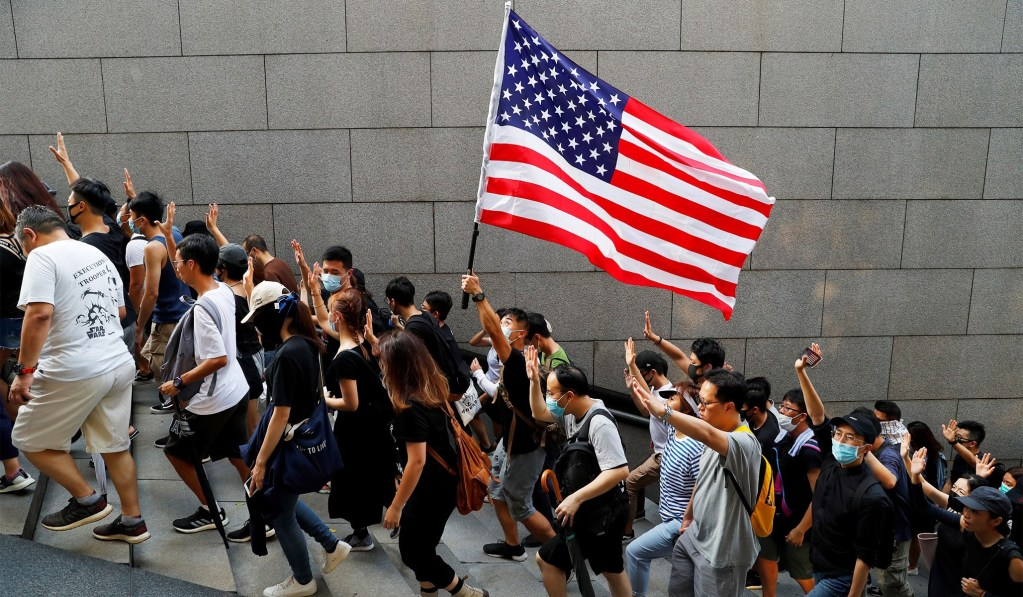 Hong Kong Protesters Paused Their Demonstration to Show Solidarity With 9/11 Victims