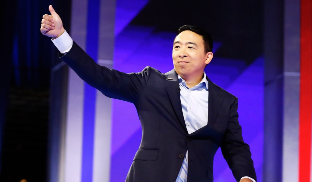 Andrew Yang Pledges to Give $1,000 a Month for a Year to Ten American Families