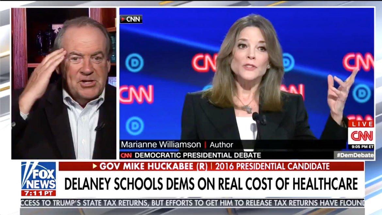 Fox News Trolls CNN Democratic Debate With Praise for John Delaney, Marianne Williamson