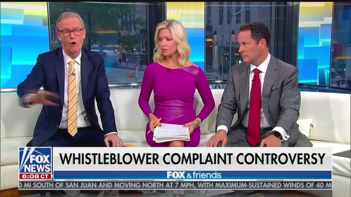 'Fox & Friends' Host Steve Doocy: 'Off-the-Rails Wrong' if Trump Sought Quid Pro Quo From Ukraine on Biden