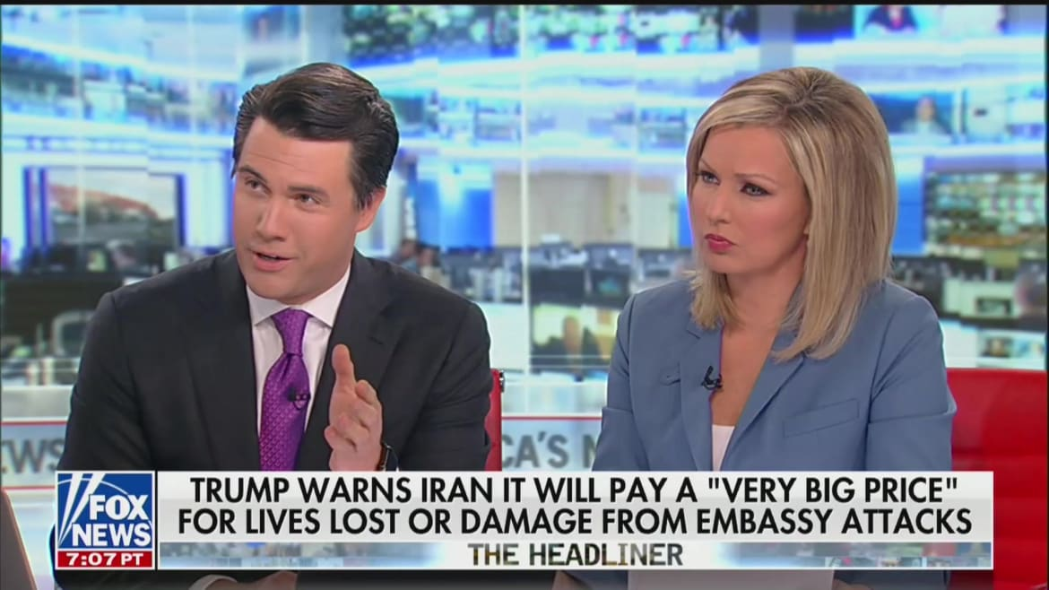 Fox News Anchor Leland Vittert Seems to Push for War in Iran: 'Bullies Understand a Punch in the Nose'