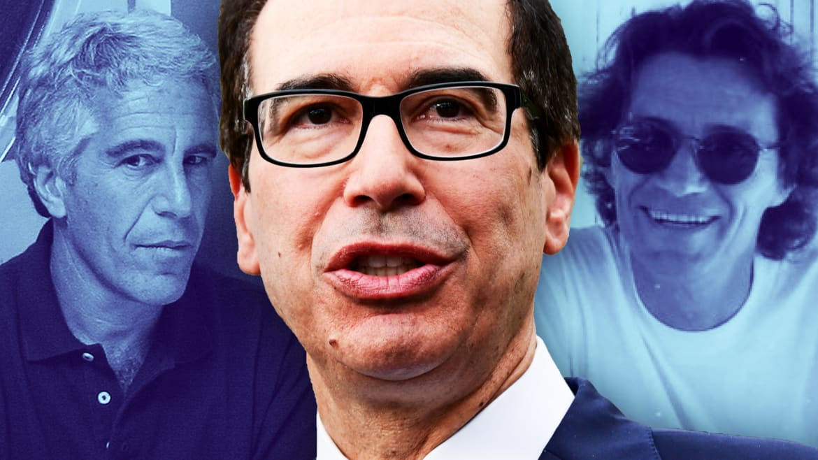 Steven Mnuchin's Mysterious Link to Creepy Epstein Model Scout